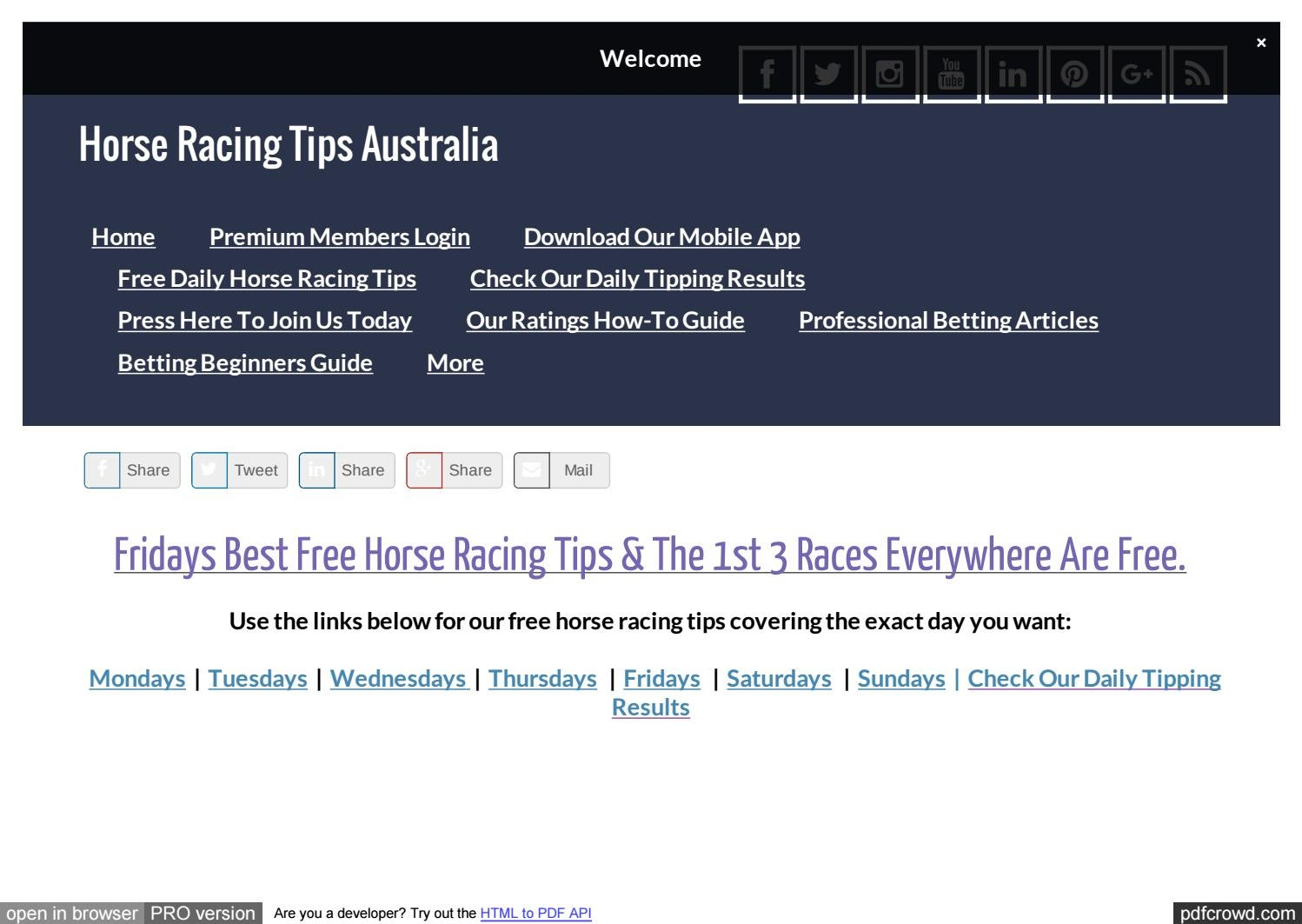 Horse betting strategy pdf download spread betting skills