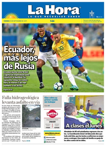 Diario La Hora Loja 01 de Septiembre 2017 by Diario La Hora Ecuador ... cb3a0b8251457