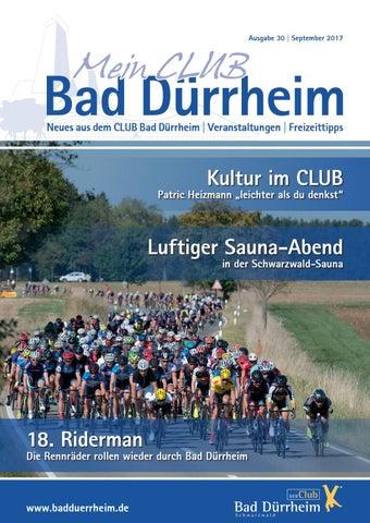 """magazin """"mein club bad dürrheim"""" september 2017kur- und bäder"""