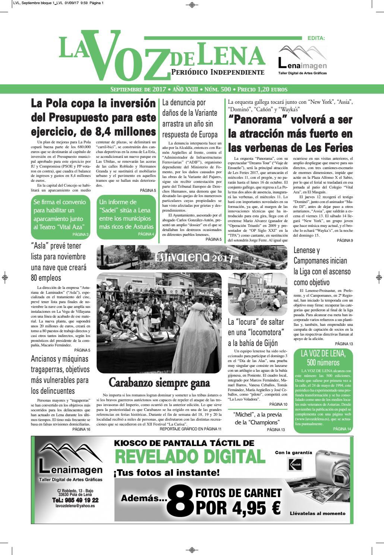 Lvl, septiembre digital by La Voz de Lena - issuu