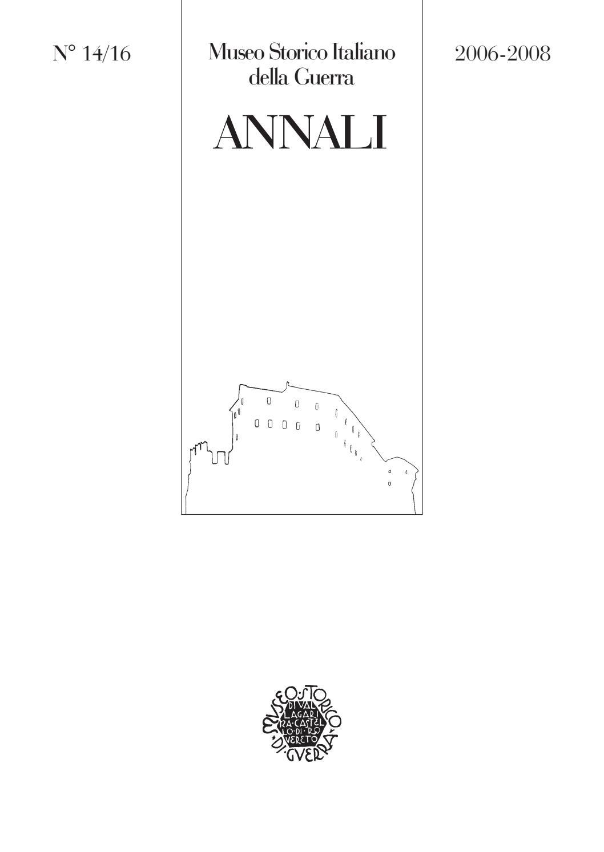 Annali 14 15 16 06 08 web by Museo storico italiano della Guerra - issuu 6d60c202fcbe