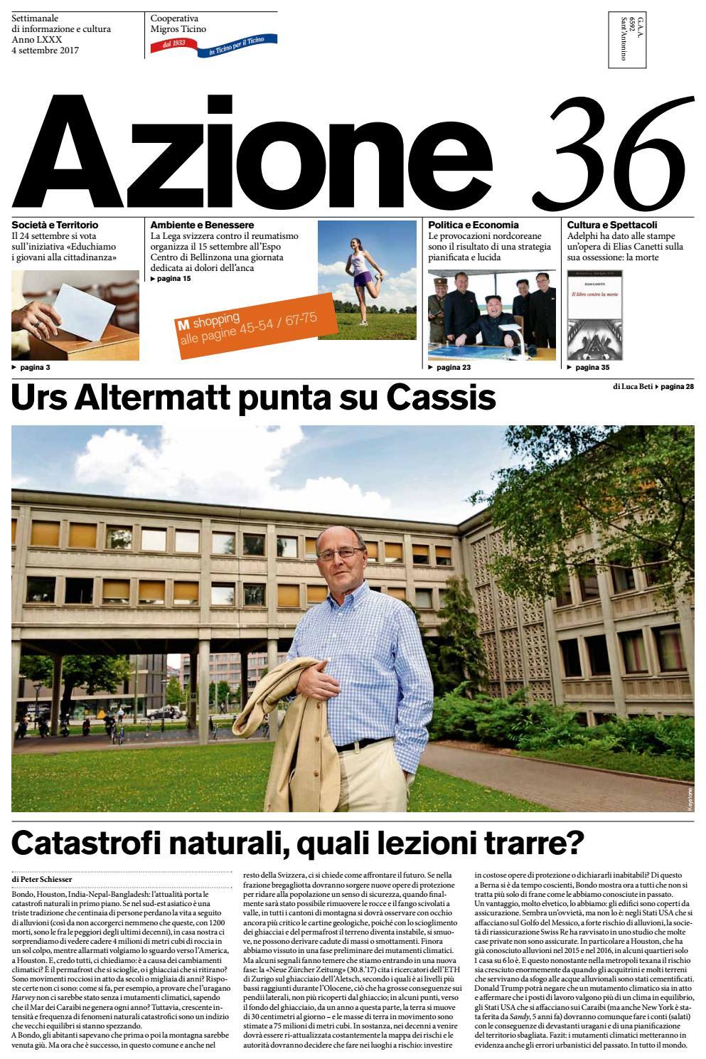 Rattan Di Russo Eugenio.Azione 36 Del 4 Settembre 2017 By Azione Settimanale Di Migros