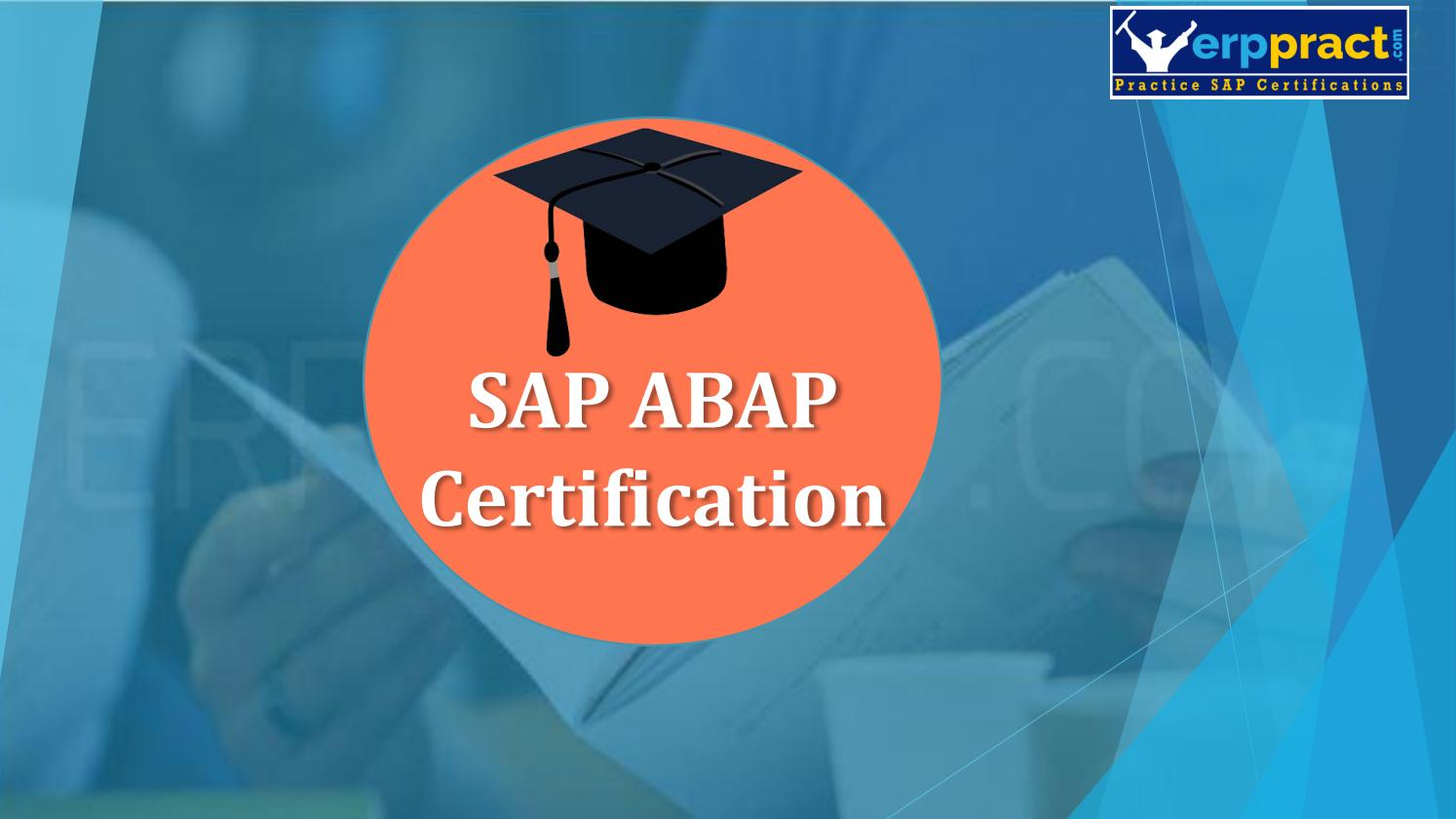 Sap Abap Certification Exam By Erppract Issuu