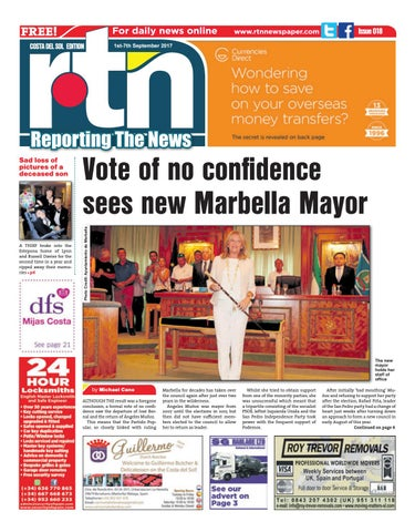 RTN Newspaper – Costa del Sol 01 - 07 September 2017 Issue 018 by