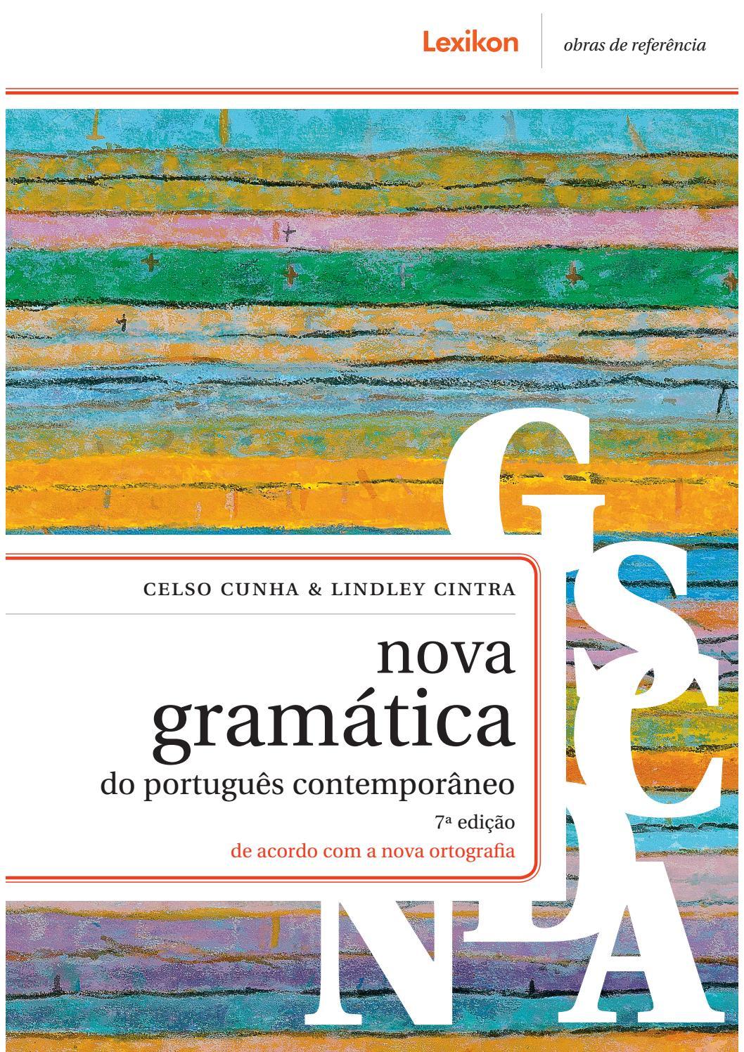 Pdf do contemporaneo nova portugues gramatica