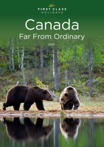 First Class Holidays 2018 Canada Brochure By