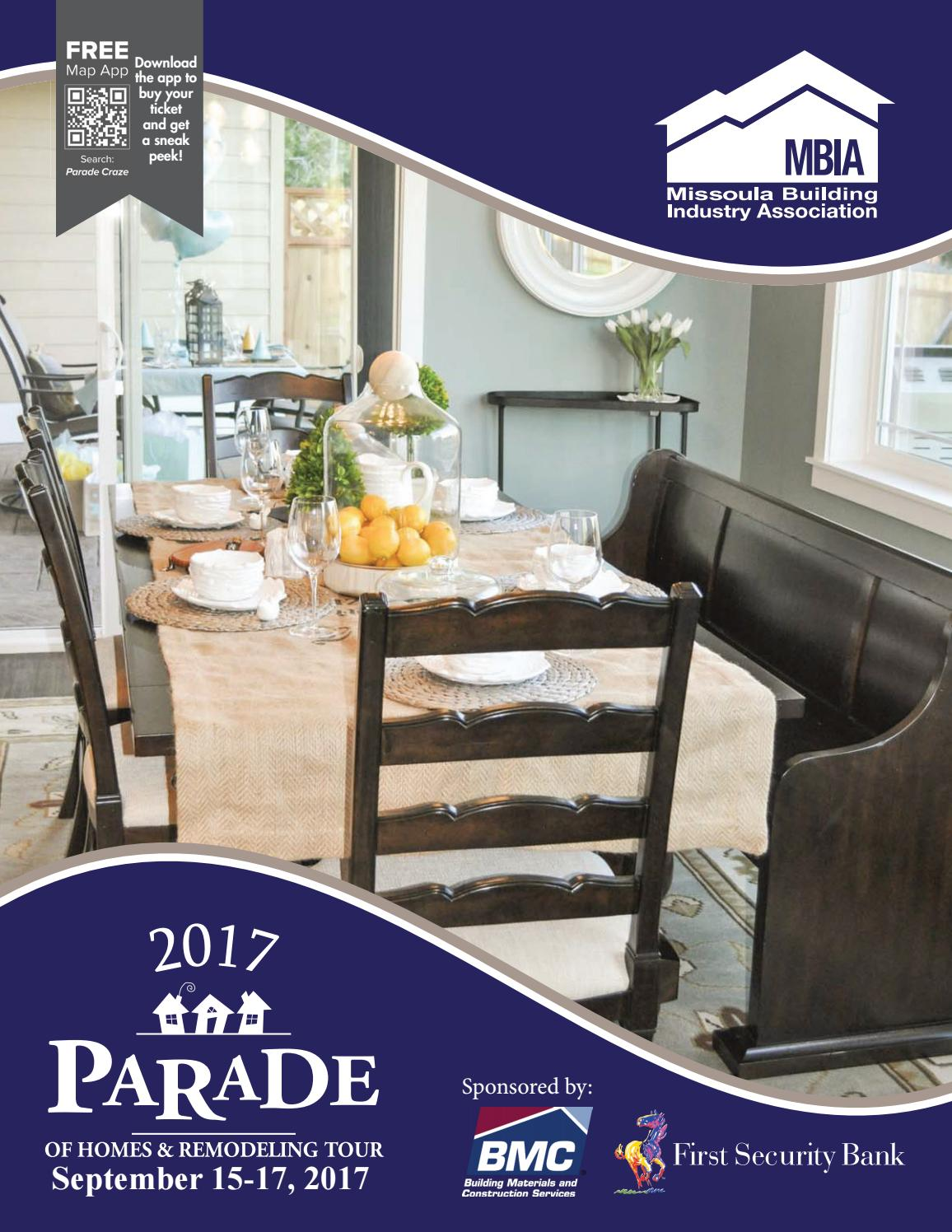 Missoula Building Industry Association 2017 Parade Of Homes By Missoula  Building Industry Association   Issuu