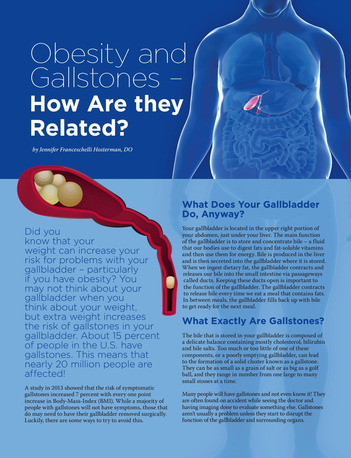 Obesity and gallstones by The GI and Bariatric Nutrition