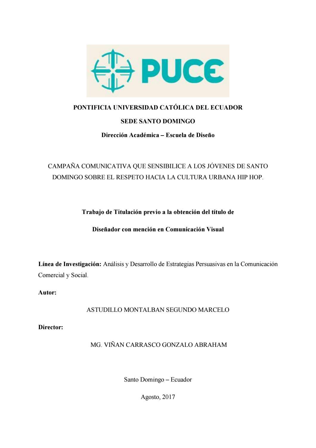 Campaña comunicativa que sensibilice a los jóvenes de Santo Domingo ...