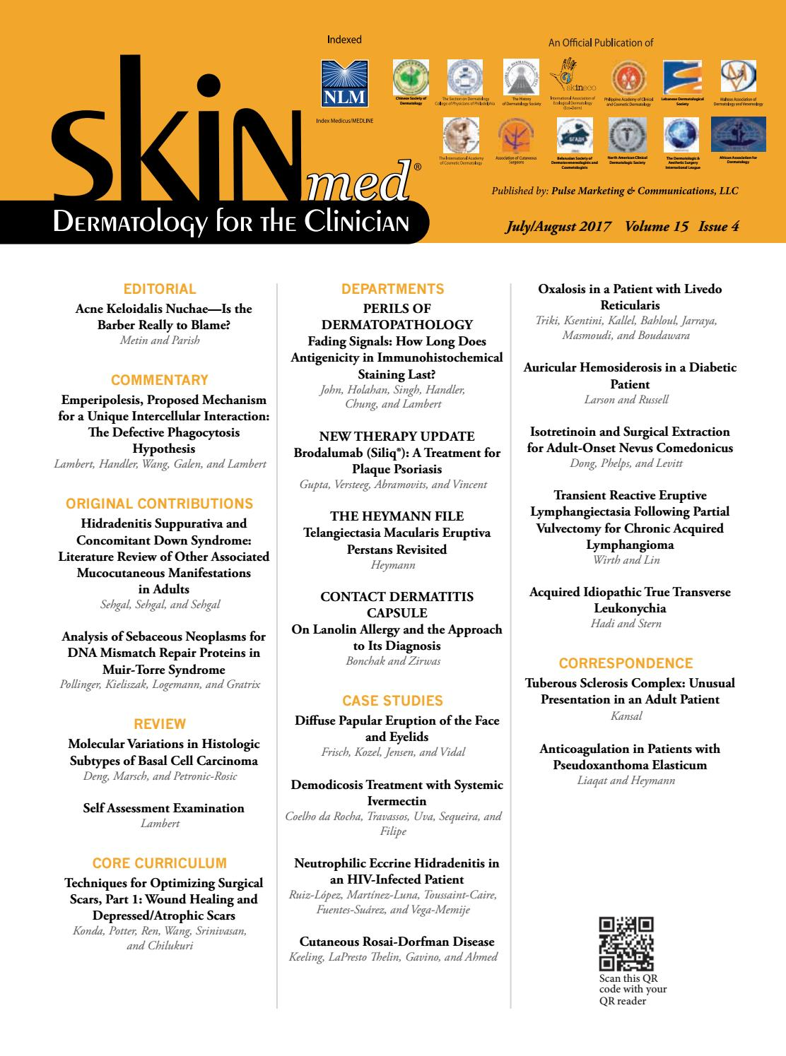 Skinmed v15i3 l - July/August 2017 by jo-ann kalaka-Adams - issuu