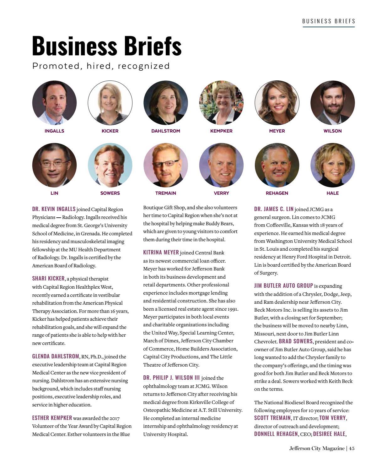 Jefferson City Magazine - September/October 2017 by Business