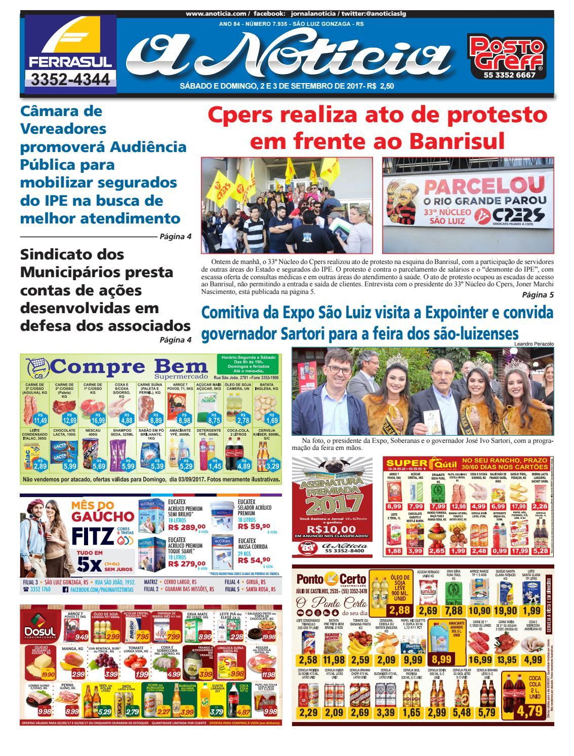 26b9375c9a Edição de 2 e 3 de setembro de 2017 by Luiz Fernando Natividade Rocha -  issuu