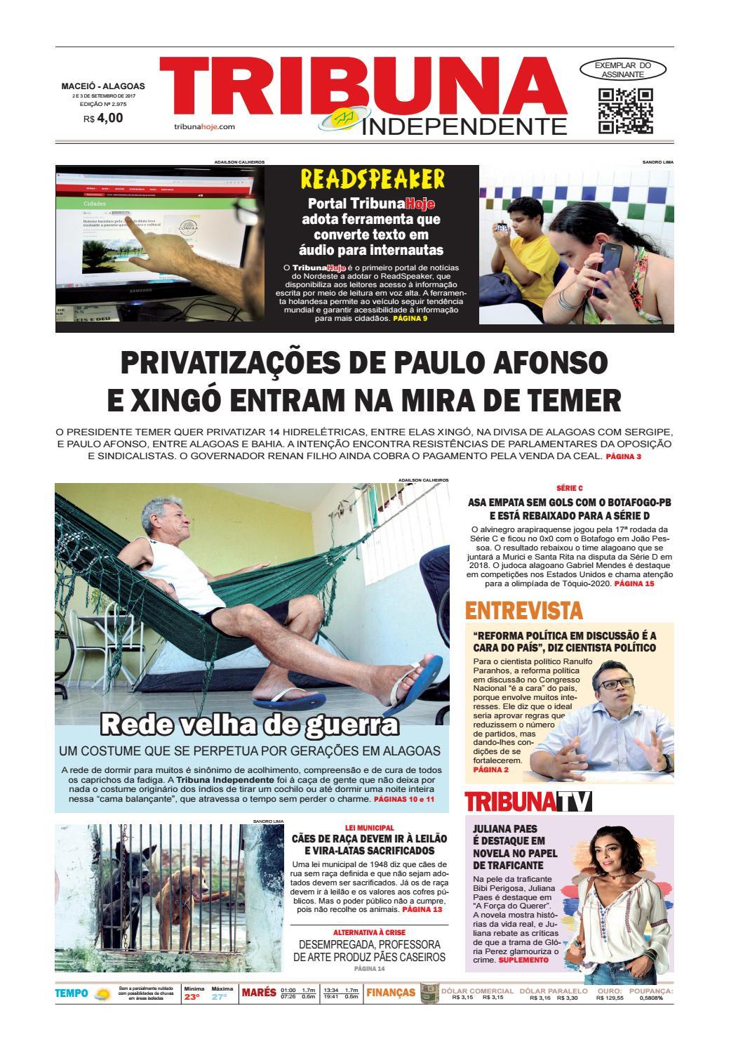 65fd036753c Edição número 2975 - 2 e 3 de setembro de 2017 by Tribuna Hoje - issuu