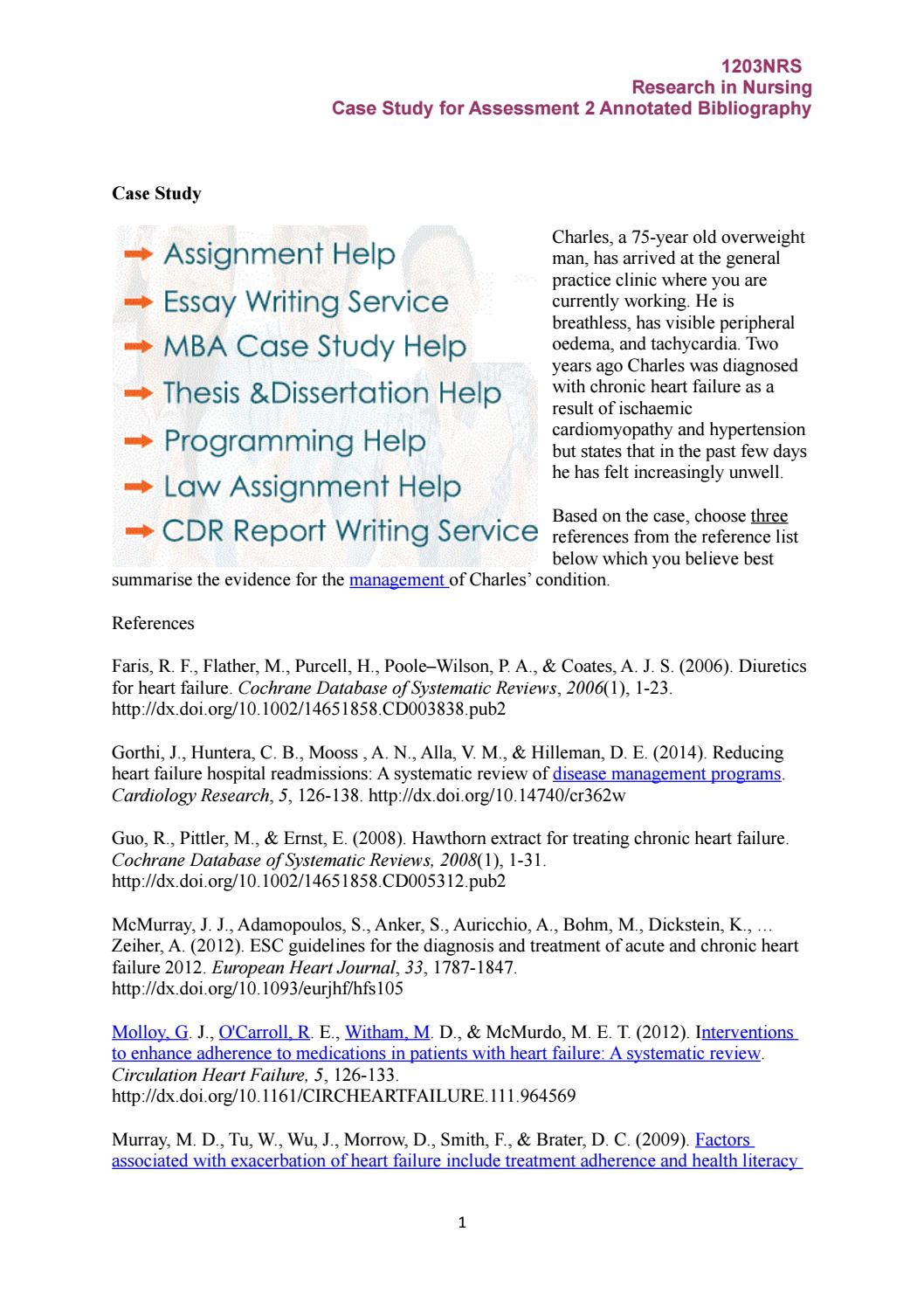 Assessment case study Assignment Help by Ava Smith - issuu