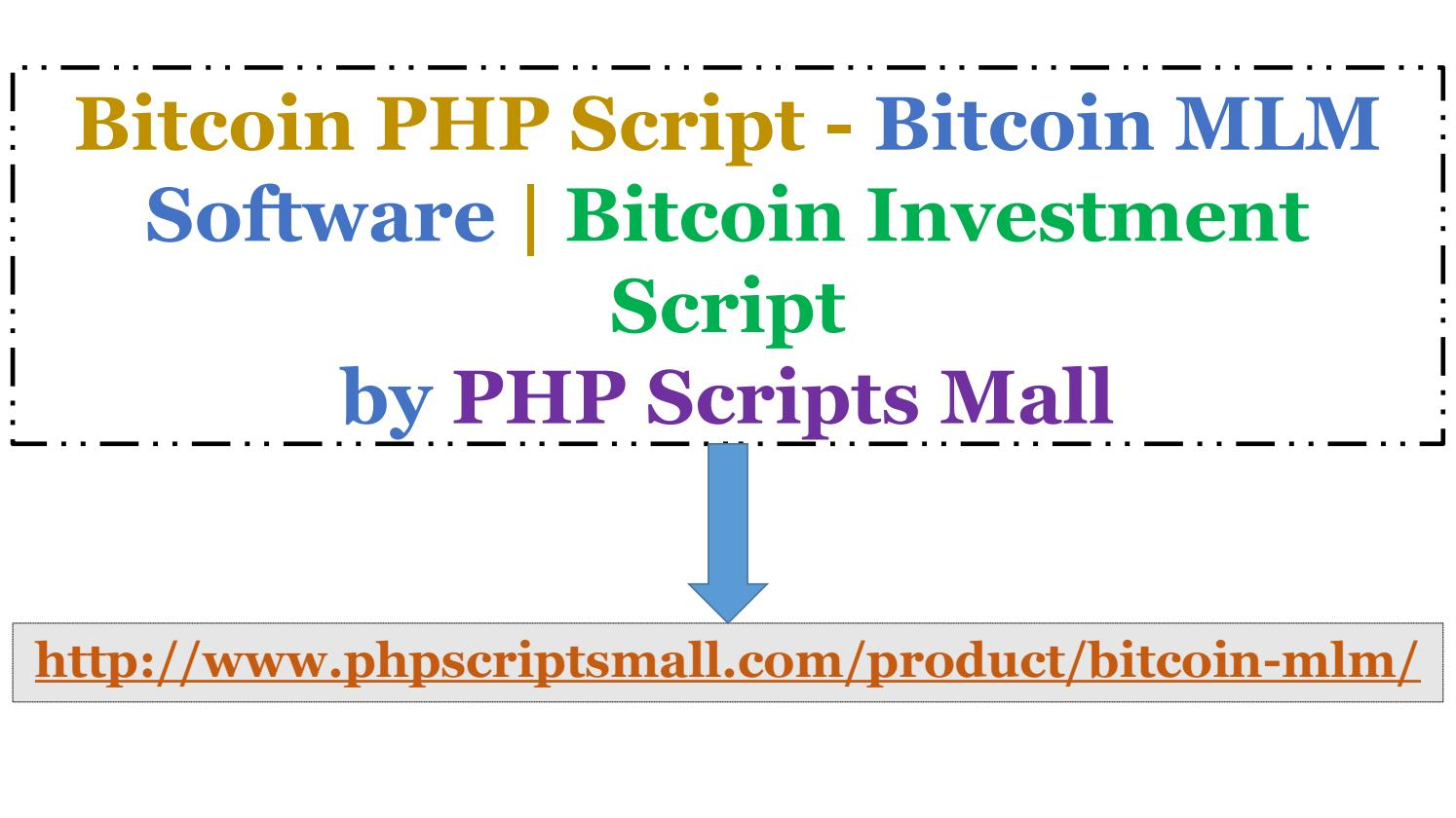 cryptocurrency investment php script