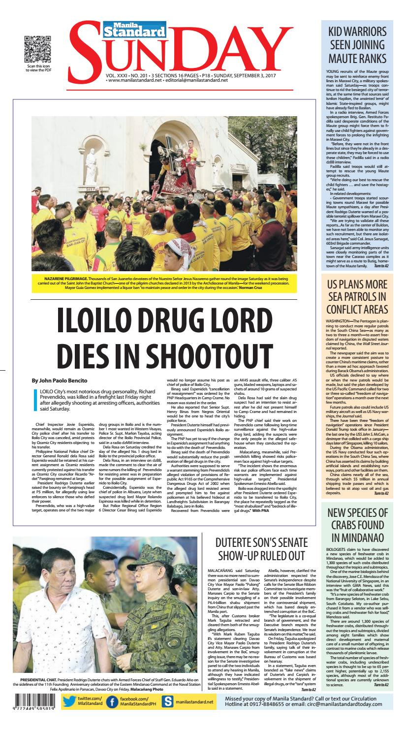 Manila Standard - 2017 September 03 - Sunday by Manila Standard - issuu