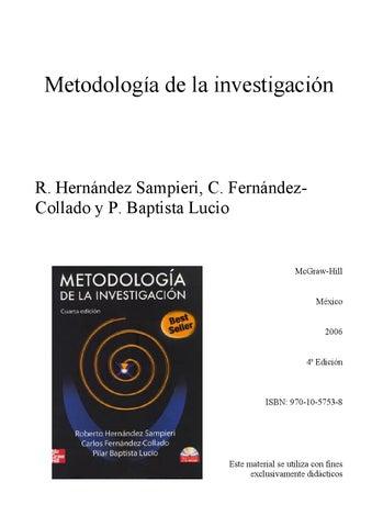 Metodologia Dela Investigacion Hernandez Sampieri Quinta Edicion Epub Download