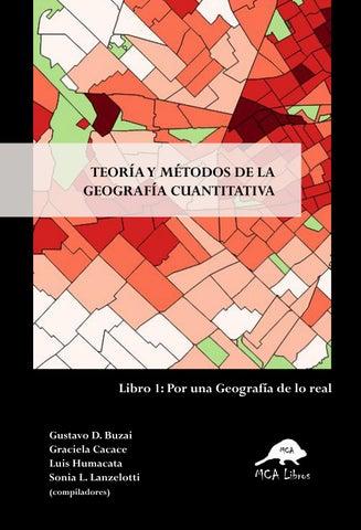 Teoría Y Métodos De La Geografía Cuantitativa By Cesar Egas