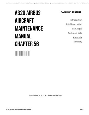 a320 airbus aircraft maintenance manual chapter 56 by rh issuu com