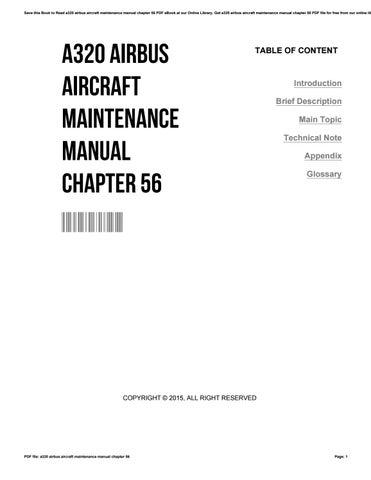 a320 airbus aircraft maintenance manual chapter 56 by rh issuu com airbus maintenance manual pdf airbus maintenance manual pdf