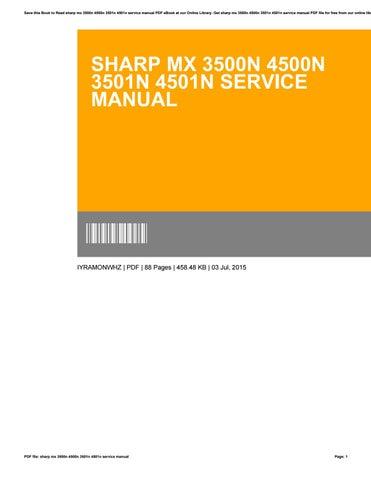 mx 4501n manual