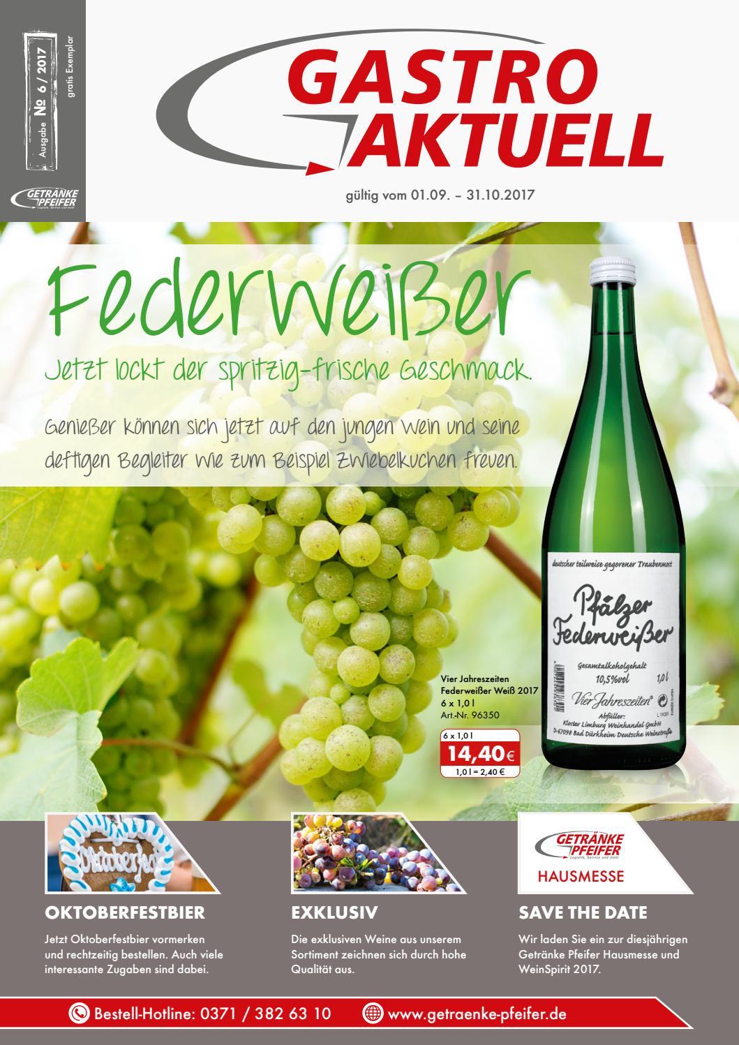 Gastro Aktuell - Ausgabe 6 / 2017 by Getränke Pfeifer GmbH - issuu