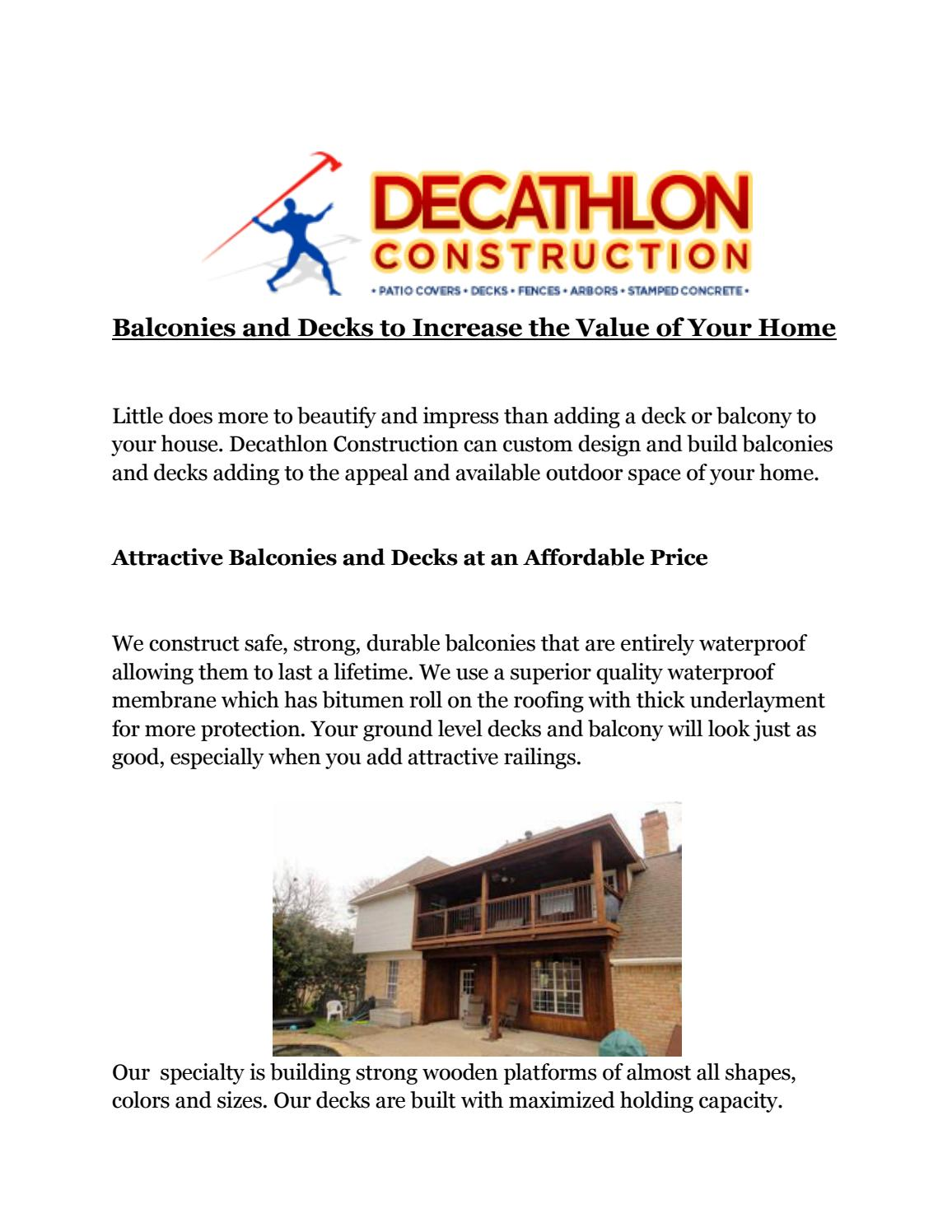 Balconies and decks to increase the value of your home by Aden ...
