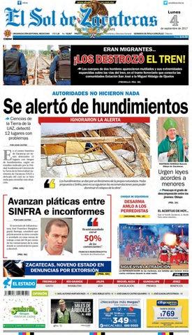 El Sol de Zacatecas 4 de septiembre 2017 by El Sol de Zacatecas - issuu 759b82a138d55