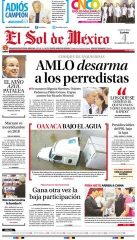 Edición Impresa 04 Septiembre 2017 by El Sol de México - issuu 39374571040
