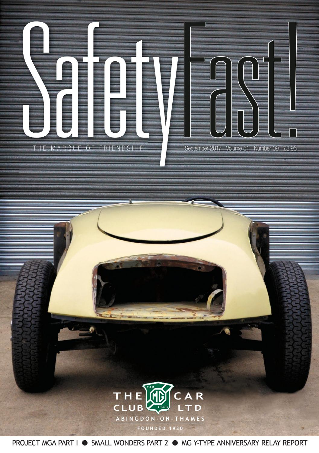 ee73794e82c Safety Fast! September 2017 by MG Car Club - issuu