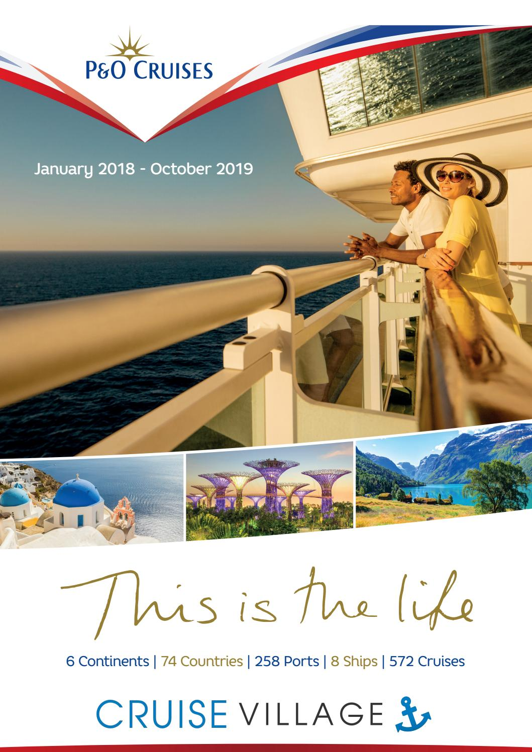 P Amp O Cruises 2018 2019 Brochure By The Travel Village Group Issuu