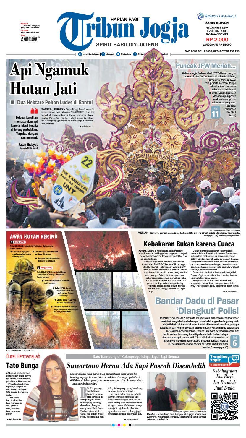 Tribunjogja 28 08 2017 By Tribun Jogja Issuu Produk Ukm Bumn Tekiro Tang Buaya 10