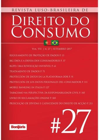 817fb6e09e2c3 Revista Luso-Brasileira de Direito do Consumo n. 27 by Editora ...