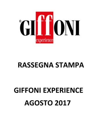 Rassegna Stampa - Giffoni Experience - Settembre 2017 by Giffoni Experience  - issuu