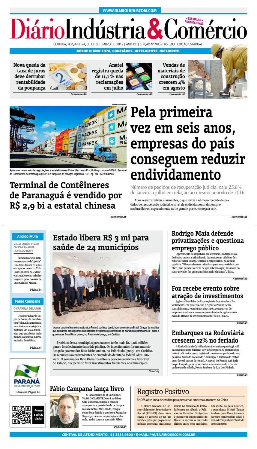 Diário Indústria Comércio - 05 de setembro de 2017 by Diário Indústria    Comércio - issuu cccec0b419dcc