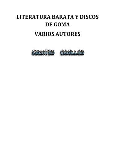 Literatura barata y discos de goma - Varios Autores by juancilaborda ... b787efca19772