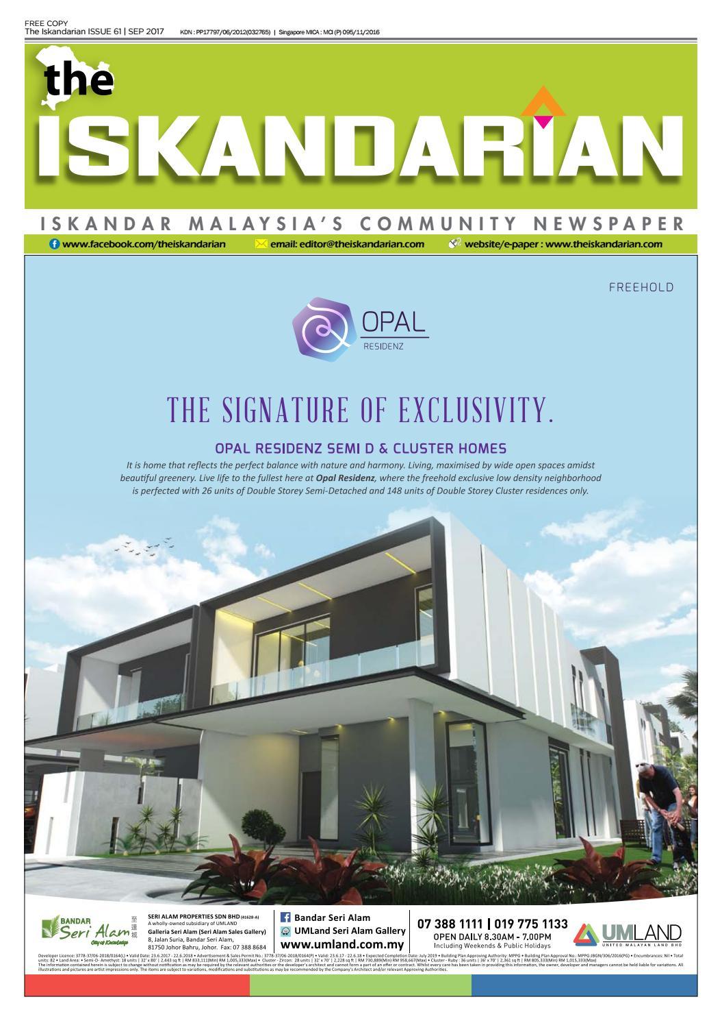 The Iskandarian September 2017 Issue by The Iskandarian