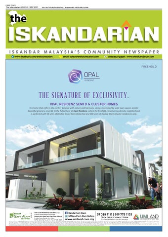 The Iskandarian September 2017 Issue by The Iskandarian WAVES