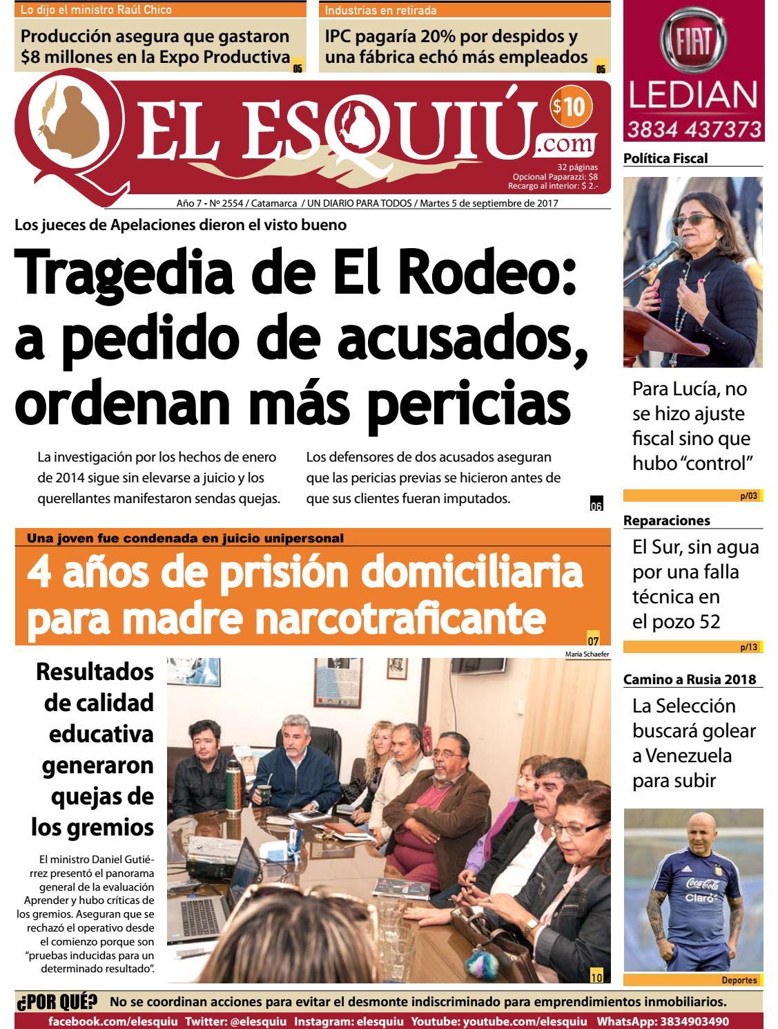 El Esquiu Com Martes 5 De Setpiembre 2017 By Editorial El Esqui  # Muebles Nadir Avellaneda