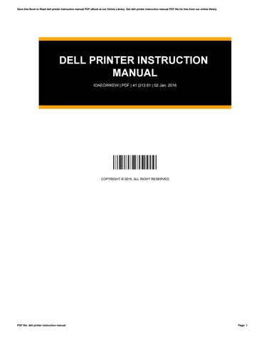 dell printer instruction manual by daisydennis2744 issuu rh issuu com dell printer 1815dn user manual dell printer 1815dn user manual