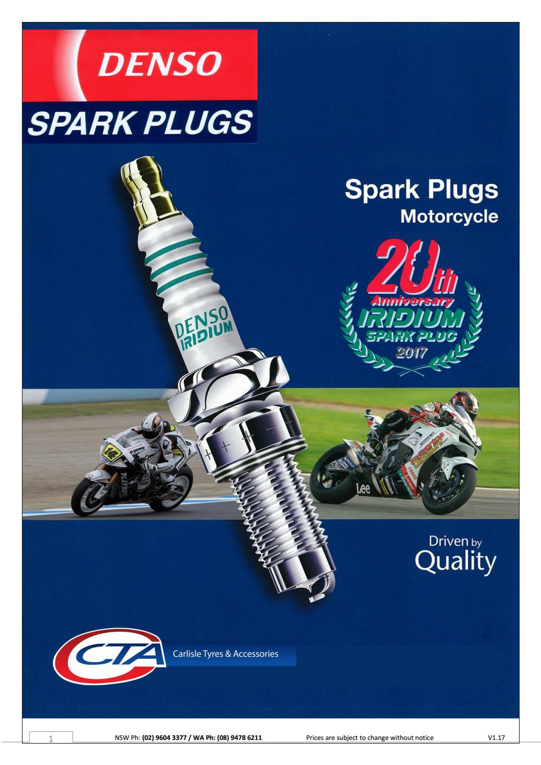 Denso Motorcycle Spark Plugs By Carlisle Accessories Australia Issuu 2000 Gl1500 Goldwing Wiring Diagram