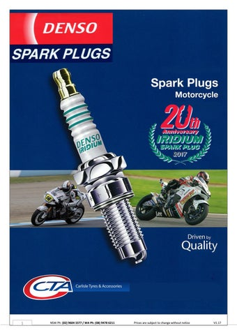"Cover of ""DENSO Motorcycle Spark Plugs"""