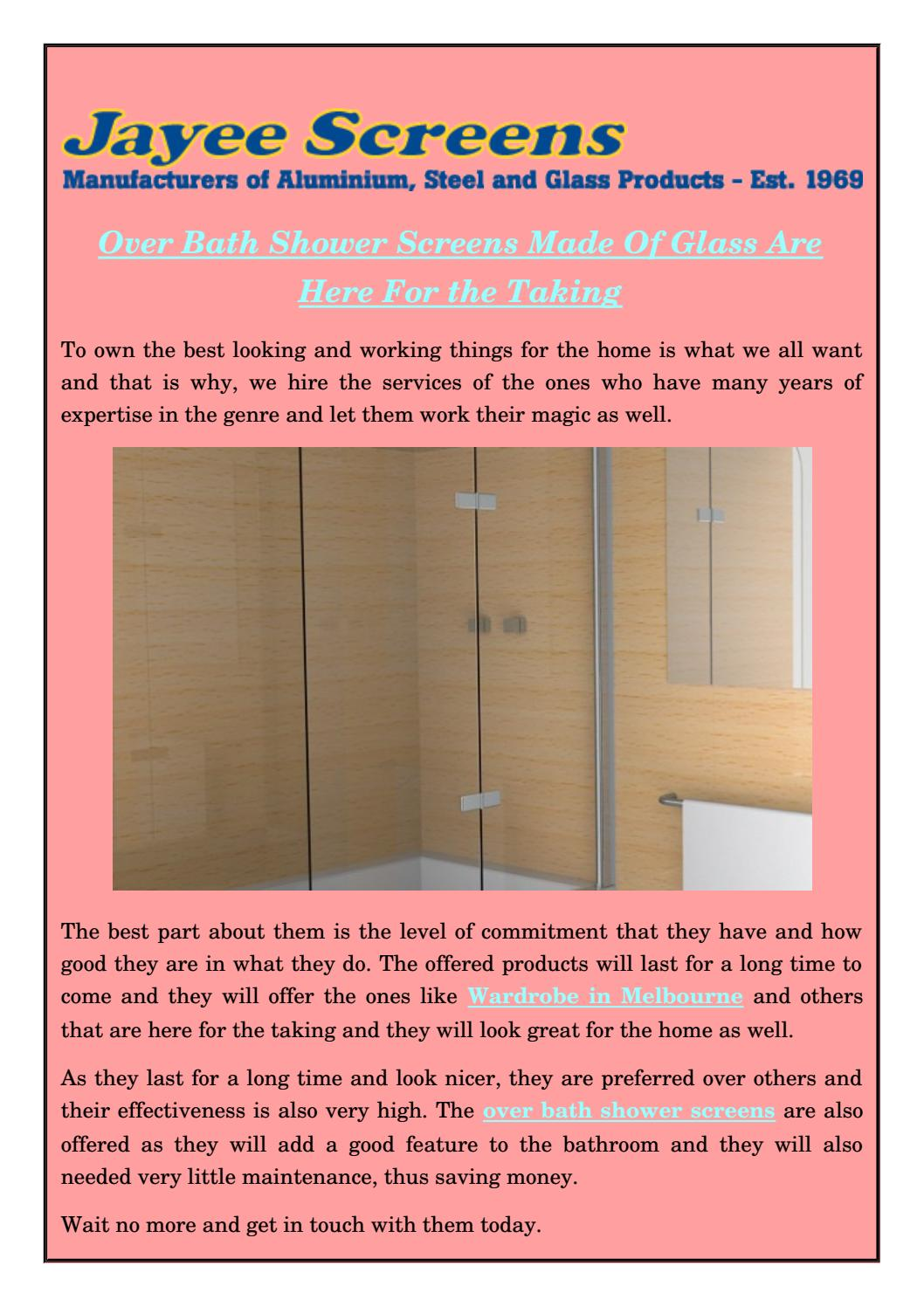 over bath shower screens made of glass are here for the taking by over bath shower screens made of glass are here for the taking by jayee screens issuu