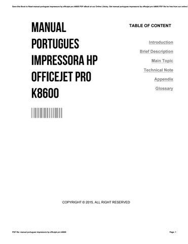 manual portugues impressora hp officejet pro k8600 by rh issuu com manual da impressora hp k8600 em portugues