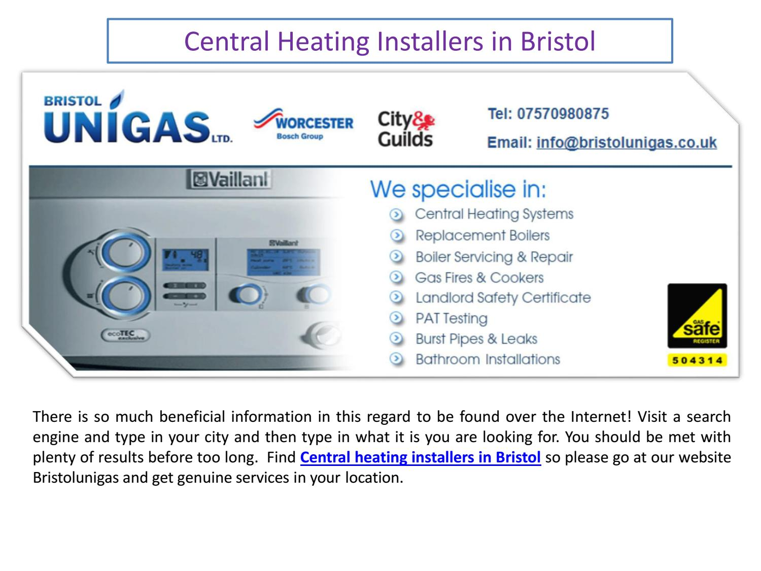 Central heating Installers in Bristol by Bristol Unigas - issuu