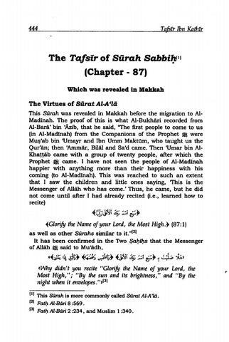 [PDF] Qur'an Tafsir Ibn Kathir Surah 87 (الأعلى) Al-A'la