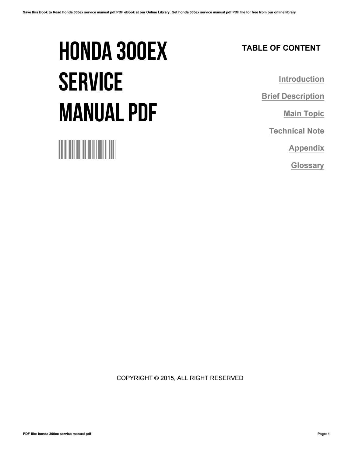 honda 300ex service manual pdf by christinecorman2328
