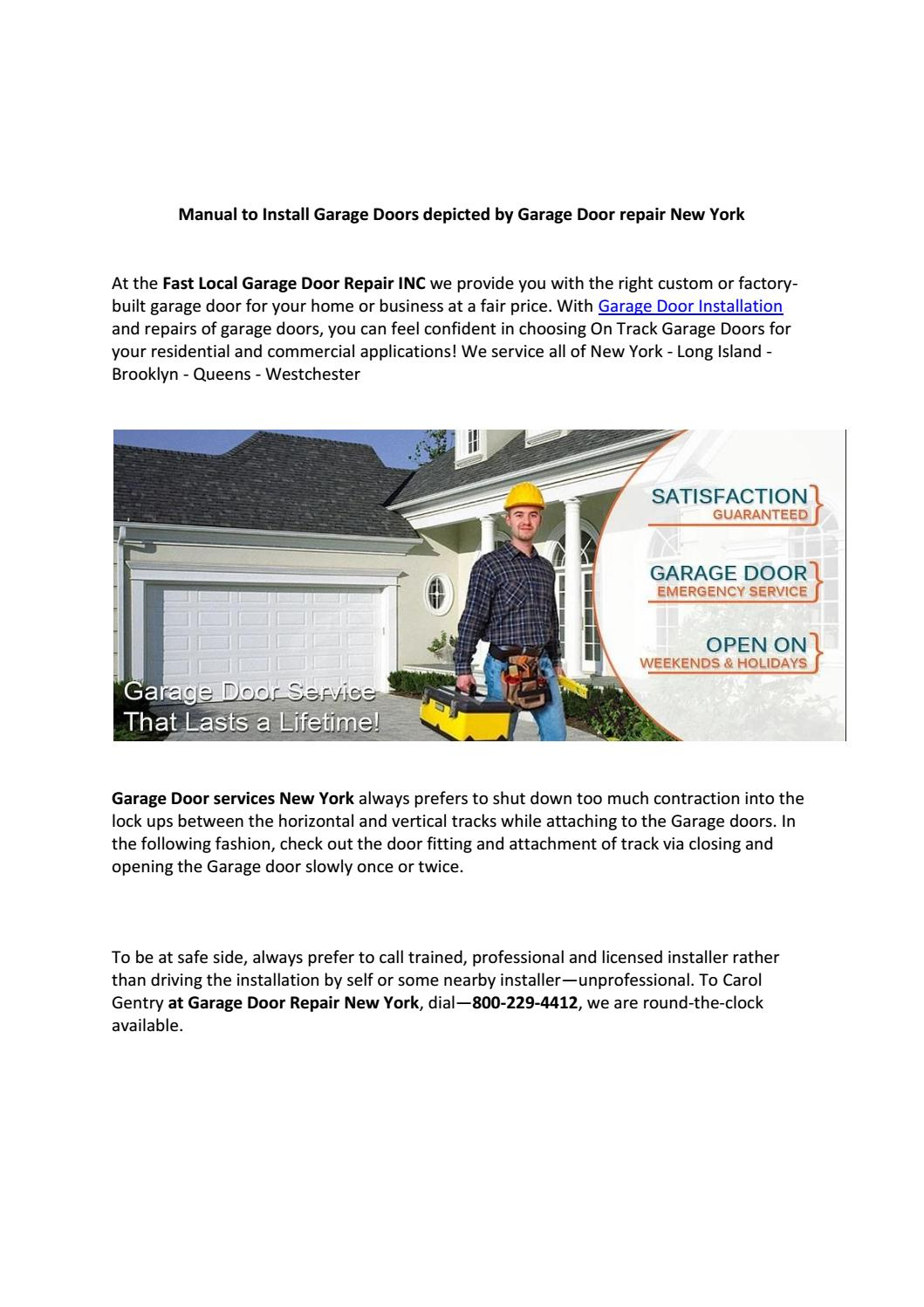 Best Garage Door Installation And Repair Service Company New York By