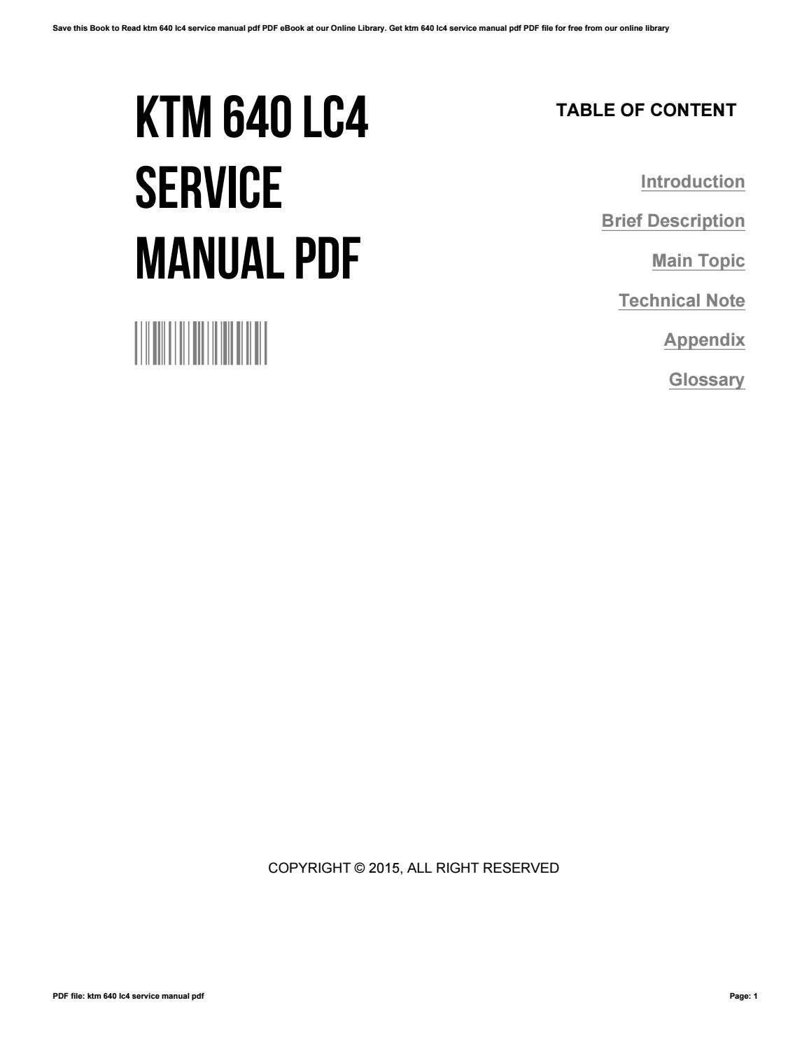ktm 640 lc4 service manual pdf by dennisbryant3678