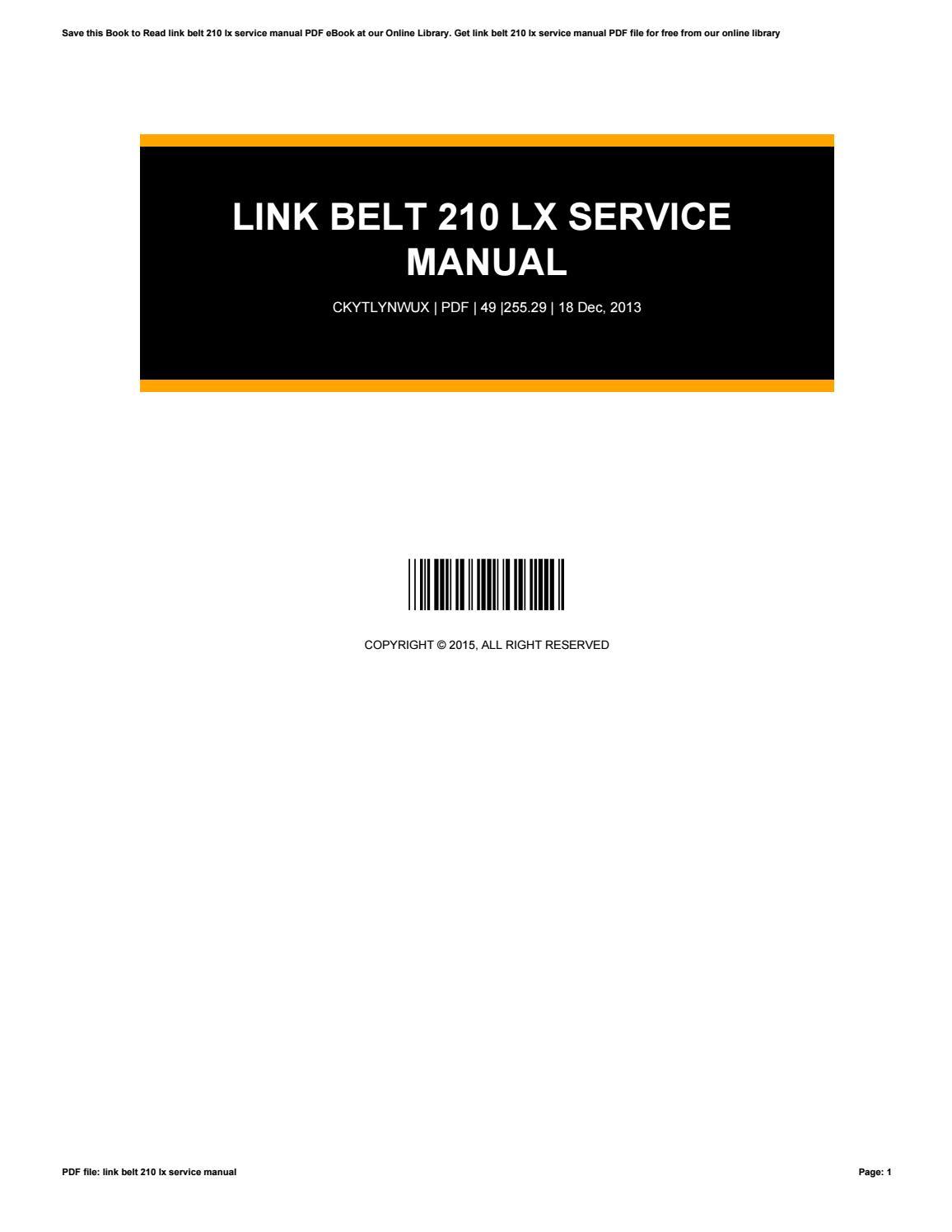 link belt speeder ls 85 drag link crane shovel clamshell trench hoe photo overhaul service manual